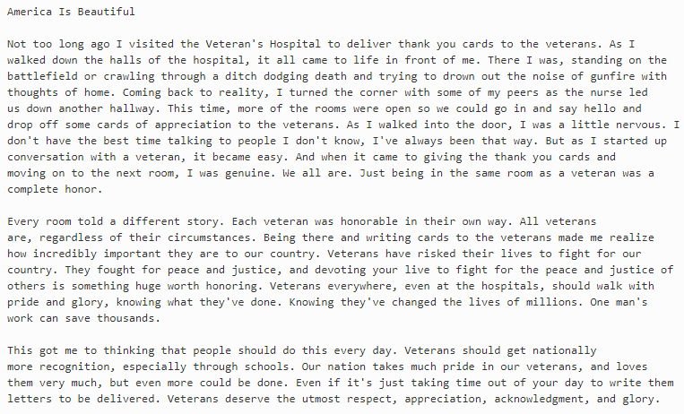 Veterans Day Essays Examples Elegant Veterans Day Essay and Winning Essays Ideas for Contest
