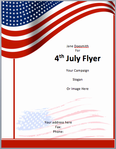 Veterans Day Flyer Template Free Awesome American Flyer Template 4th July Free Flyer Templates
