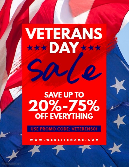 Veterans Day Flyer Template Free Awesome Copy Of Veterans Day Sale Flyer