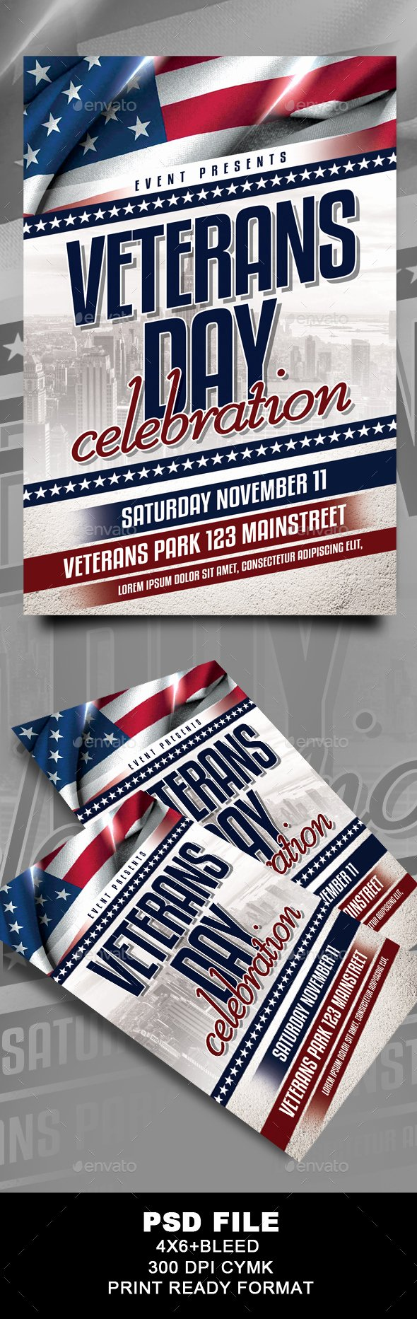 Veterans Day Flyer Template Free Awesome Veterans Day Flyer by G4yuma