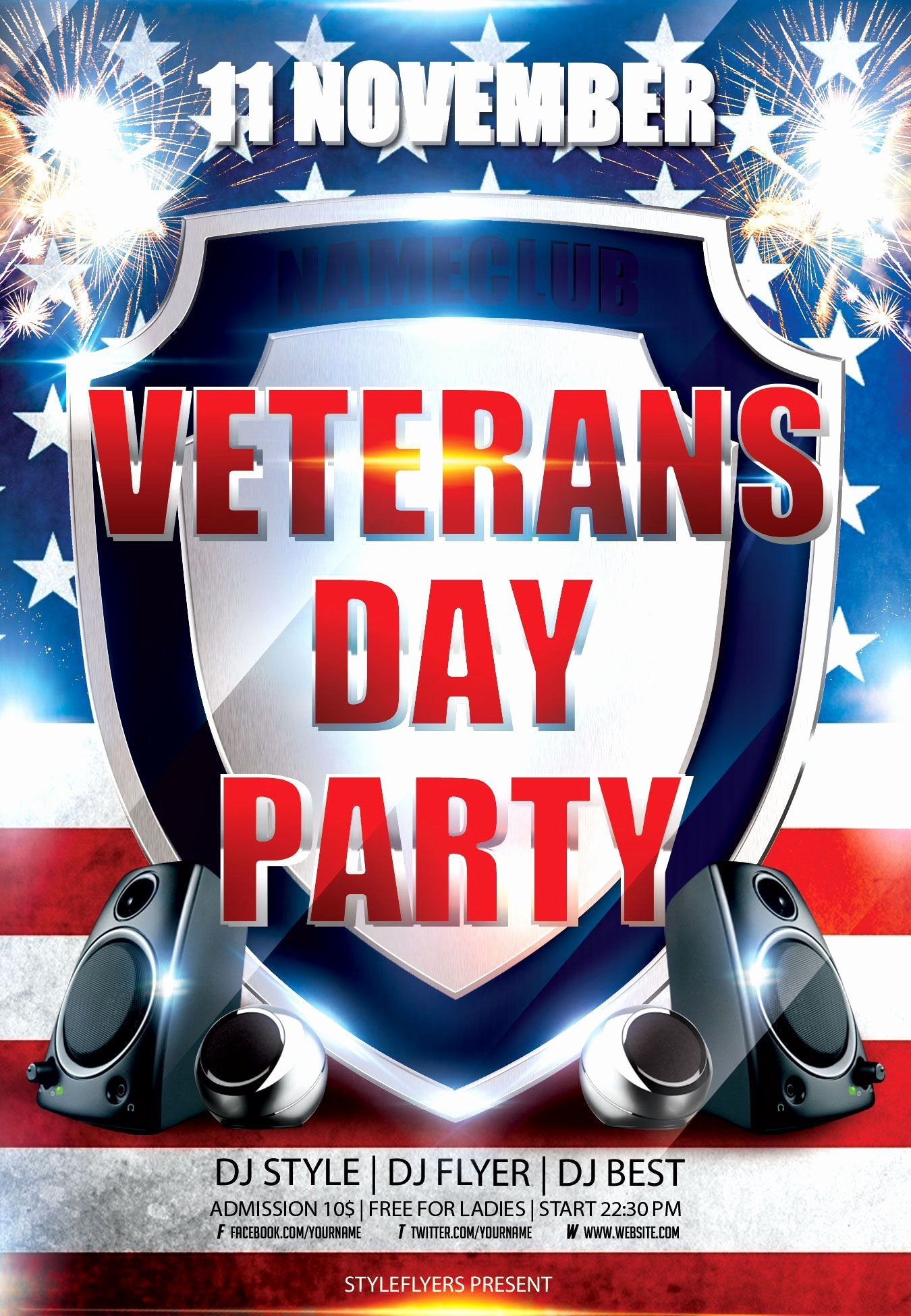 Veterans Day Flyer Template Free Awesome Veterans Day Flyer Psd Template by Styleflyers It Can