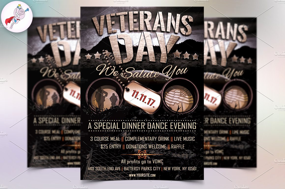 Veterans Day Flyer Template Free Awesome Veterans Day Flyer Template Flyer Templates Creative