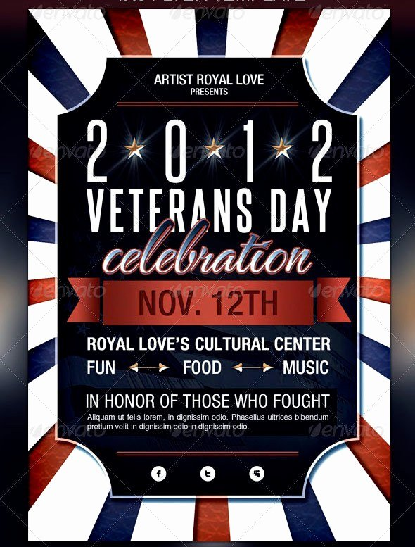 Veterans Day Flyer Template Free Beautiful Veterans Day Flyer Templates