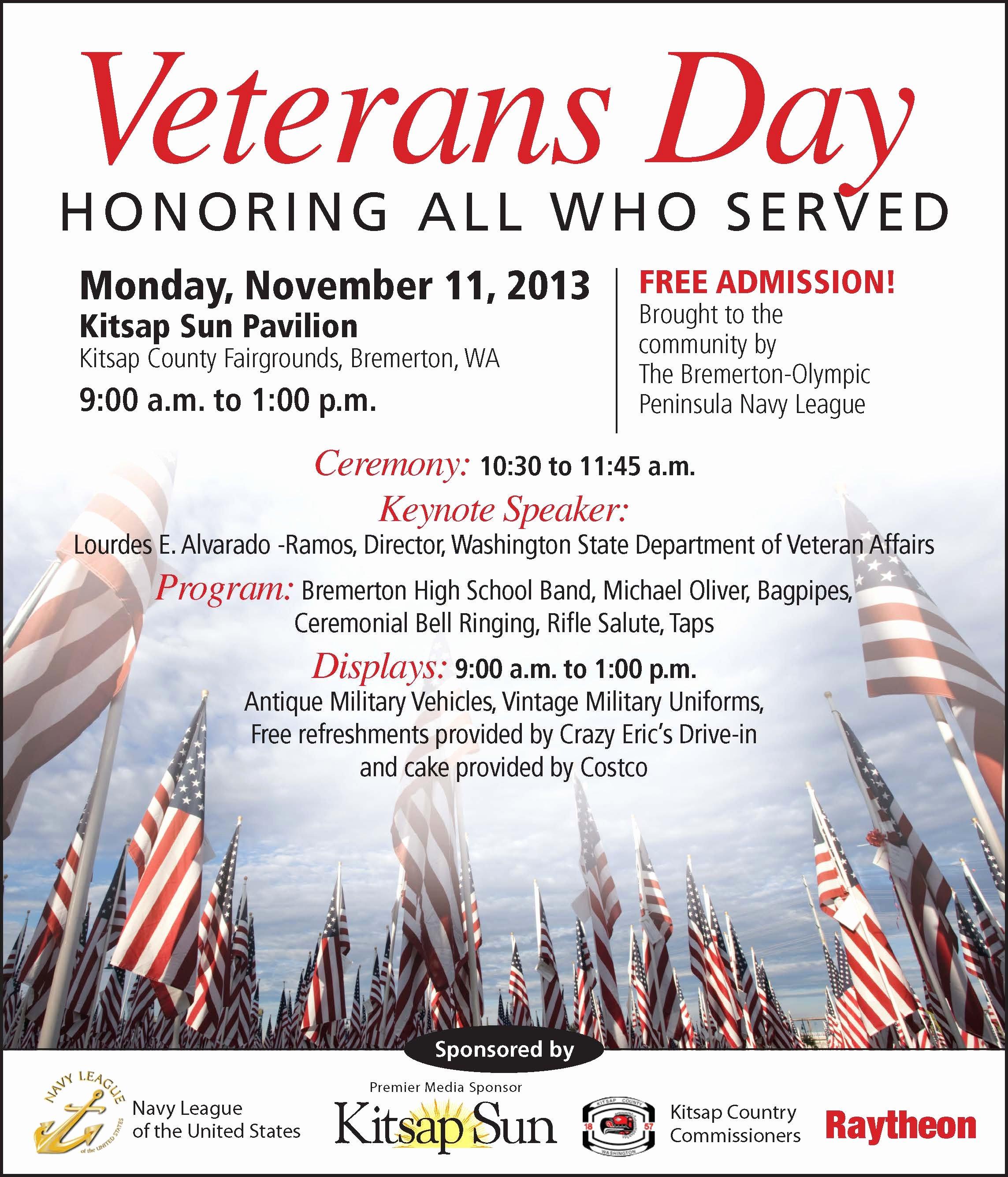 Veterans Day Flyer Template Free Best Of Nov 11 Veterans Day Ceremony