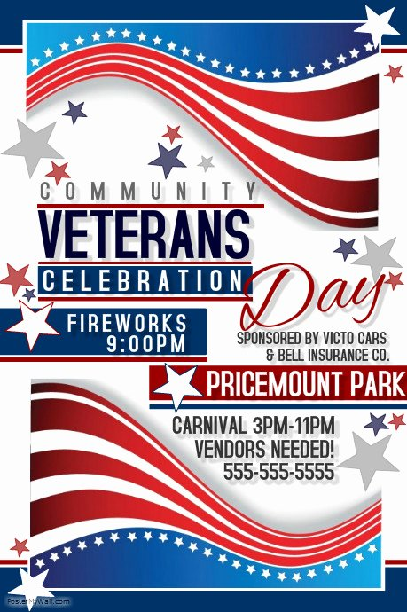 Veterans Day Flyer Template Free Best Of Veterans Day Template
