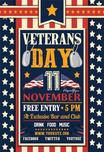 Veterans Day Flyer Template Free New Free Psd Flyer Templates for Party event Business