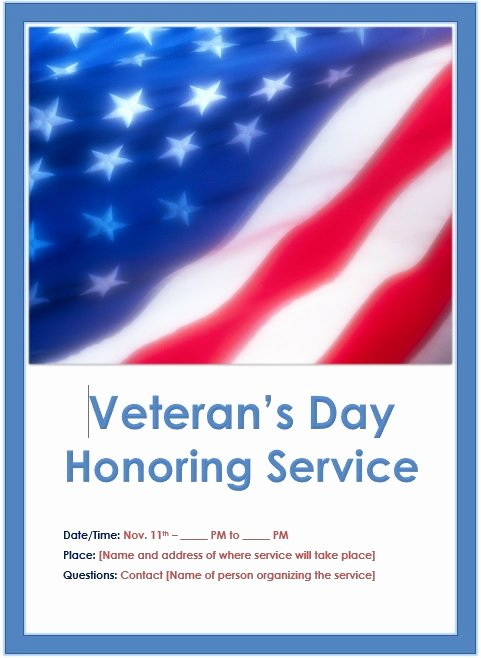 Veterans Day Flyer Template Free New Veterans Day Flyer