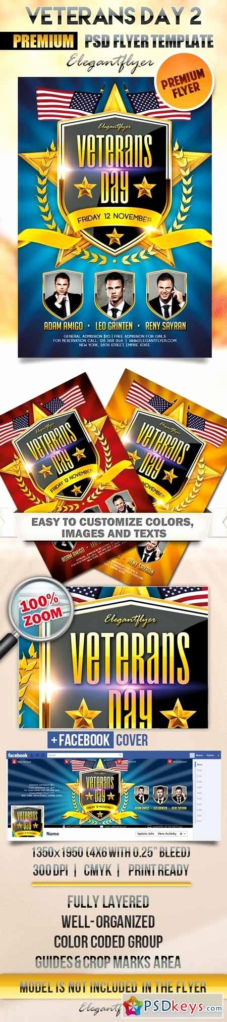 Veterans Day Flyer Templates Free Awesome Veterans Day 2 – Flyer Psd Template Cover