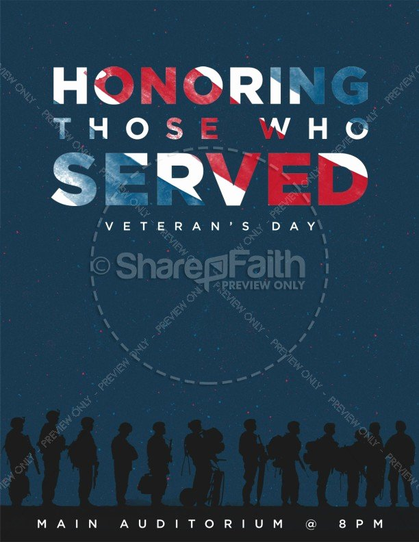 Veterans Day Flyer Templates Free Awesome Veterans Day Honoring Those who Served Church Flyer