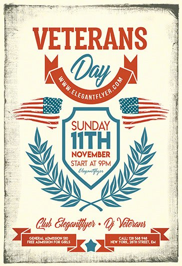 Veterans Day Flyer Templates Free Best Of Free Psd Flyers Templates for event Club Party and