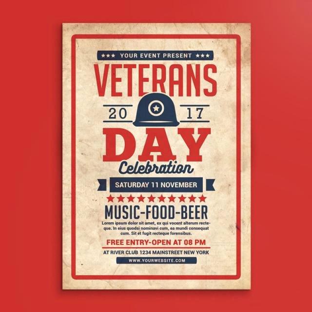 Veterans Day Flyer Templates Free Elegant Veterans Day Flyer Template for Free Download On Tree