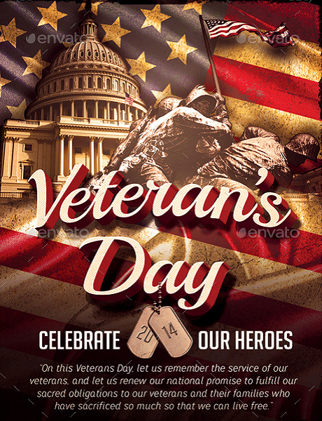Veterans Day Flyer Templates Free Inspirational Veteran S Day Flyer Template Party Flyer Templates for