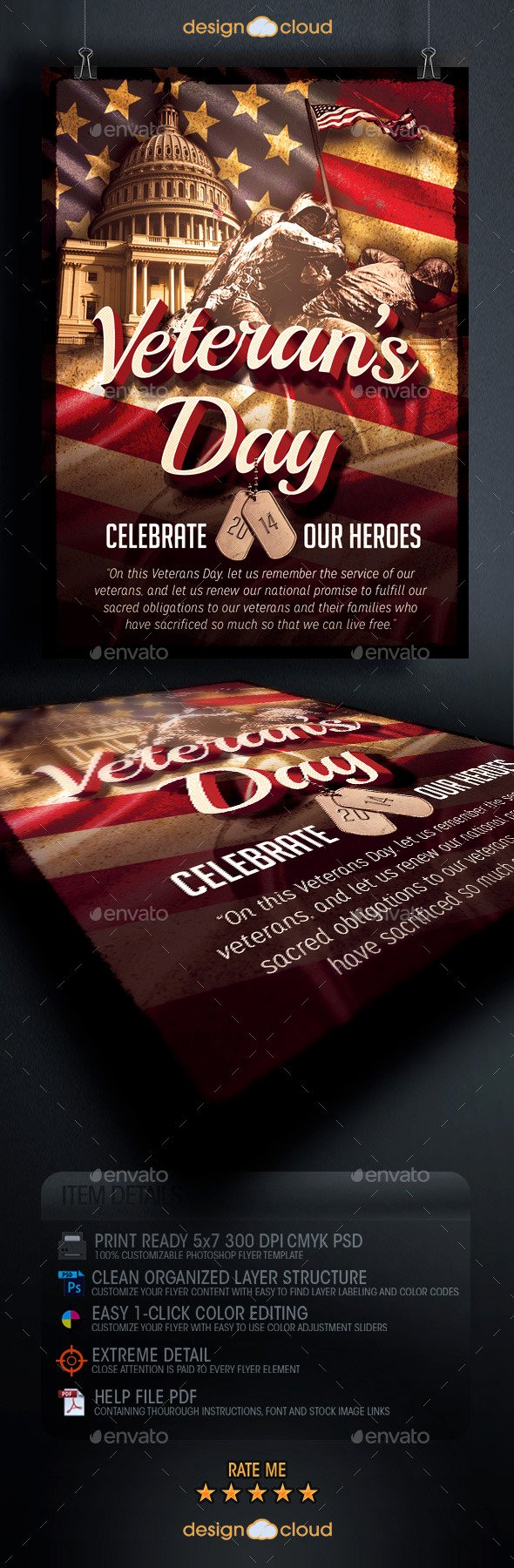 Veterans Day Flyer Templates Free Lovely Veteran S Day Flyer Template by Design Cloud