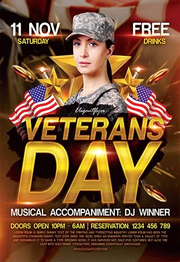 Veterans Day Flyer Templates Free Luxury Free Psd Flyer Templates for Party event Business