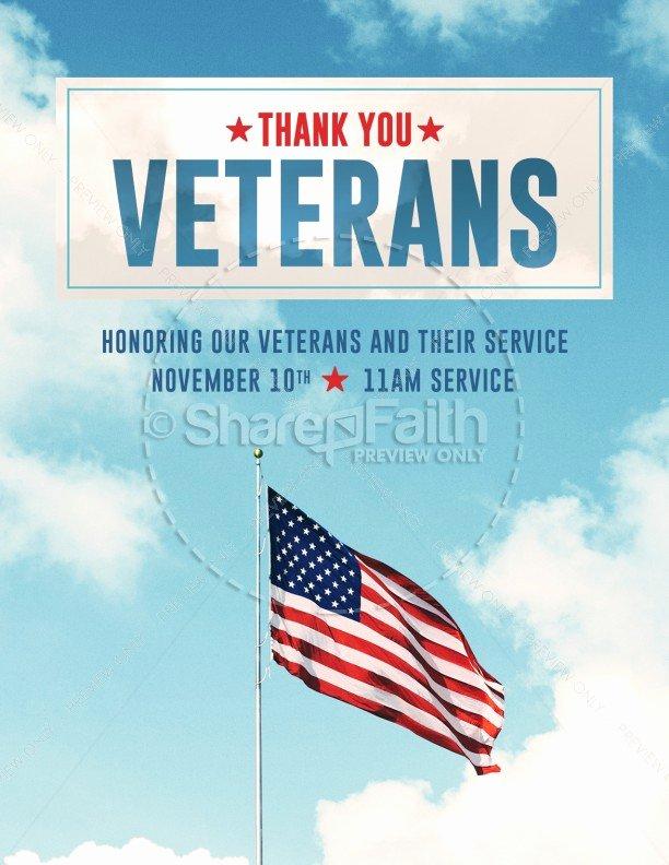 Veterans Day Flyer Templates Free Unique Veterans Day American Flag Flyer Template Template