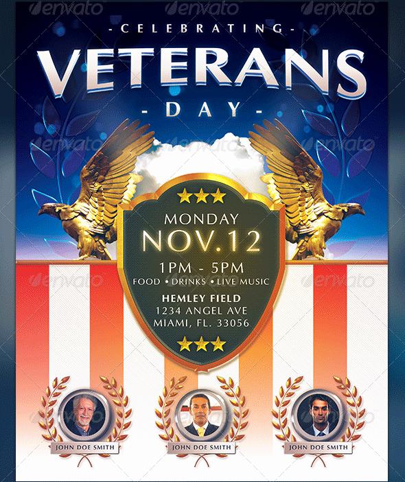 Veterans Day Flyer Templates Free Unique Veterans Day Flyer Templates