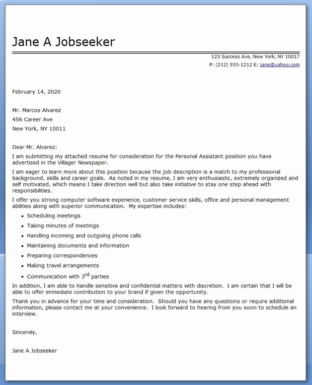 Virtual assistant Cover Letter Lovely 13 Best Images About Personal assistant On Pinterest