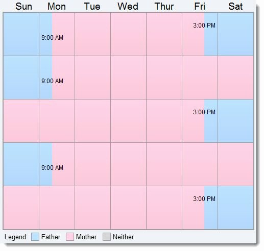 Visitation Schedule Template New 13 Best Images About Visitation Custody On Pinterest