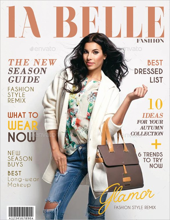 Vogue Magazine Cover Template Awesome 36 Magazine Cover Template Free Sample Example format