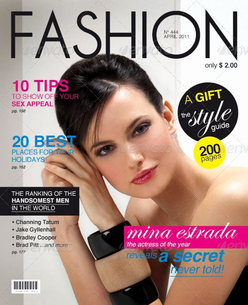 Vogue Magazine Cover Template Awesome Magazine Cover Template by Weweb