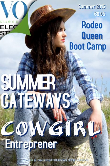 Vogue Magazine Cover Template Best Of Vogue Cowgirl Magazine Cover Template