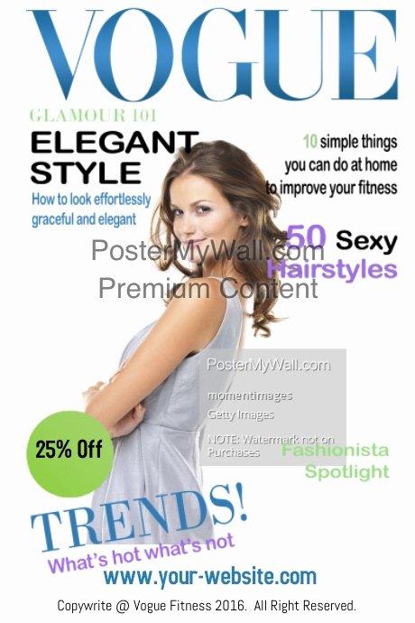 Vogue Magazine Cover Template Fresh Vogue Fitness Magazine Cover Template