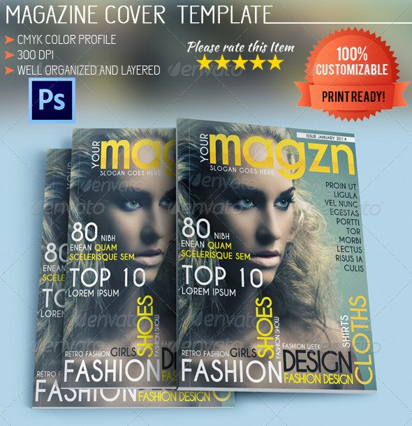 Vogue Magazine Cover Template Inspirational Fashion Magazine Cover