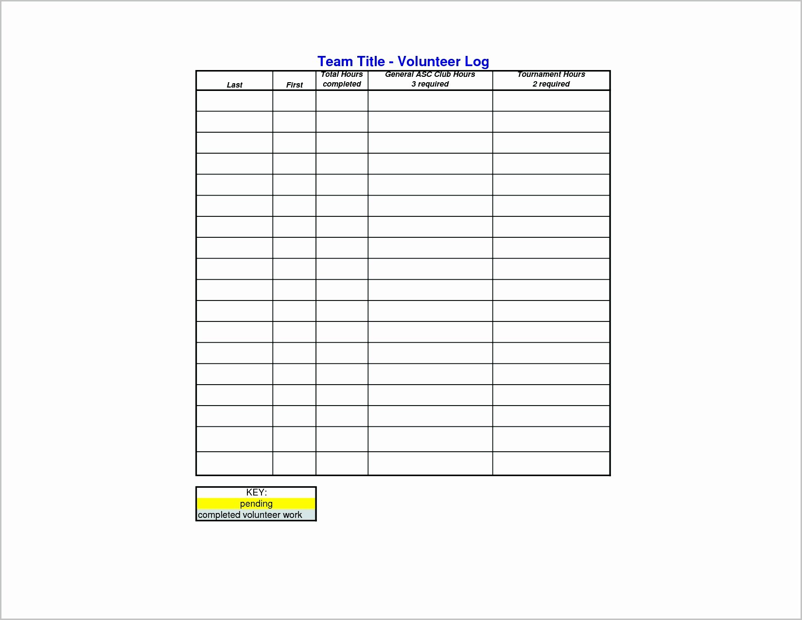 Volunteer Hours Log Template Inspirational 14 15 Volunteer Schedule Template