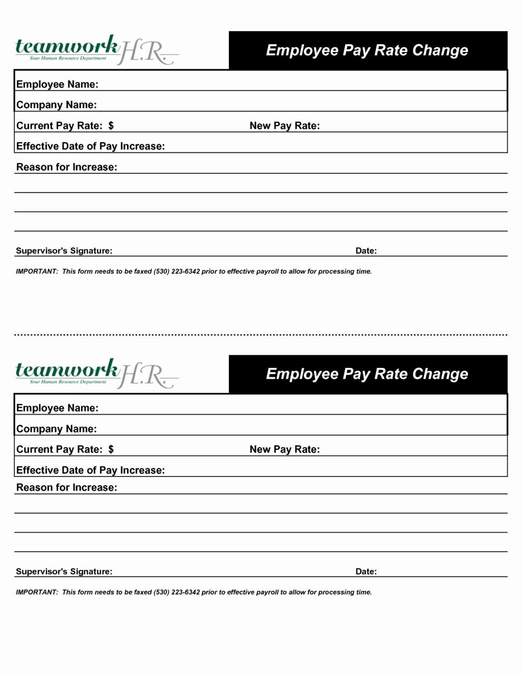 Wage Increase form New Inspirational Employee Pay Rate Change Increase form