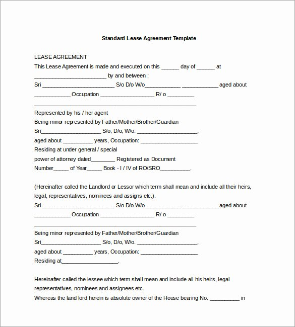 Waiver Template Word Beautiful 17 Lease Template Doc Pdf
