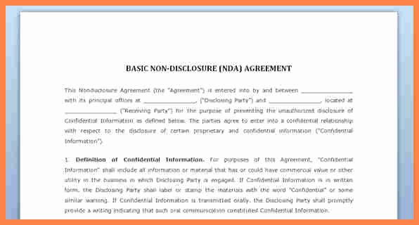 Waiver Template Word Elegant 7 Simple Confidentiality Agreement Template