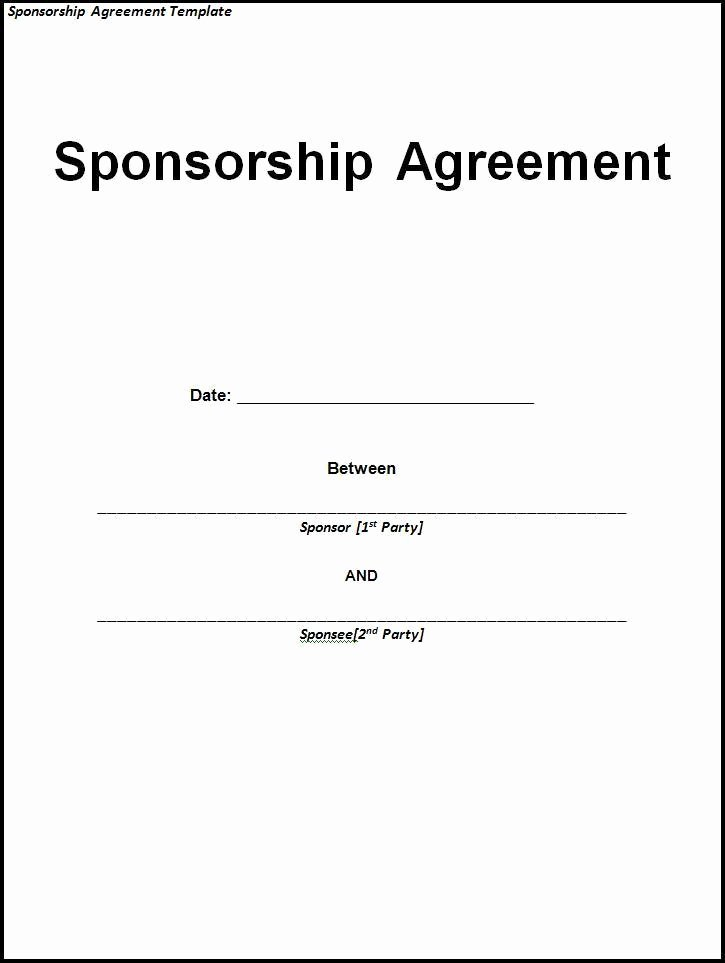 Waiver Template Word Luxury 10 Sponsorship Agreement Templates