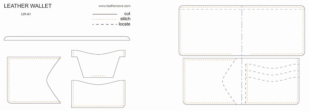 Wallet Card Template Free Inspirational Leather Wallet Pattern Pdf Leathercove