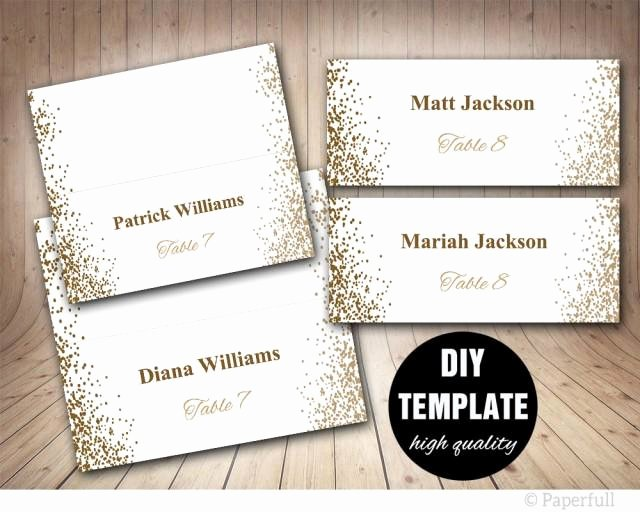 Wallet Card Template Word Best Of Printable Placecards Place Cards Wedding Gold Wedding