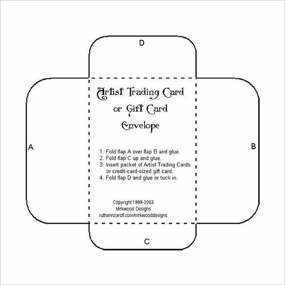 Wallet Card Template Word Fresh Printable Gift Card Envelope Template