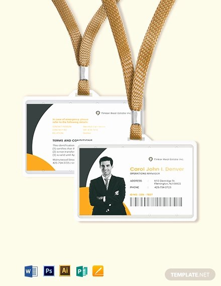 Wallet Card Template Word Lovely Security Ficer Id Card Template Download 273 Id Cards