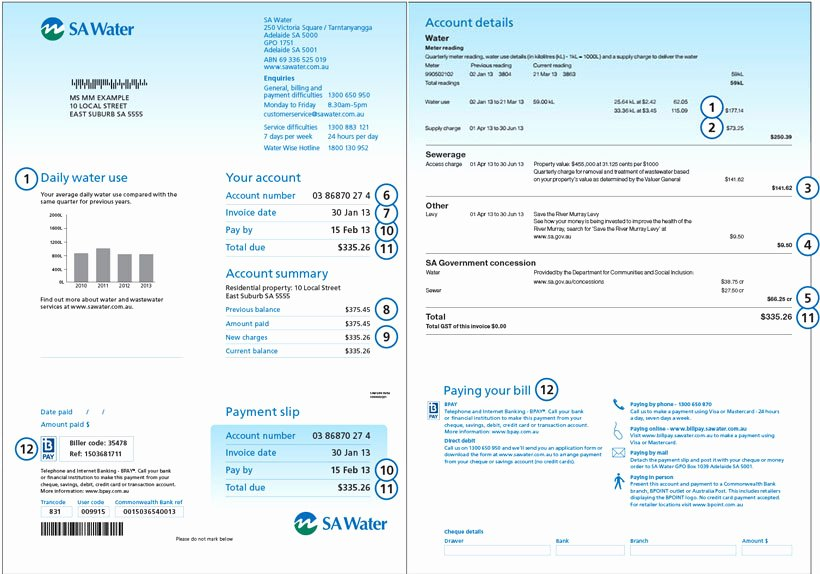 Water Bill Template Awesome Water Meter Invoice Template why It is Not the Best Time