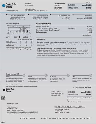 Water Bill Template Best Of Centerpoint Provider Energy Electric Houston Texas