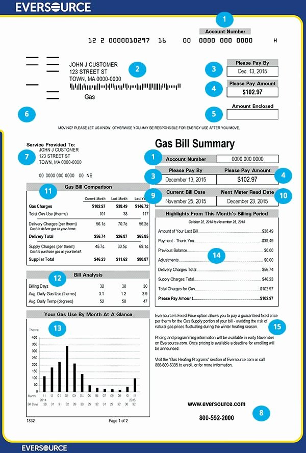 Water Bill Template Best Of Gas Bill Front Page 600×888
