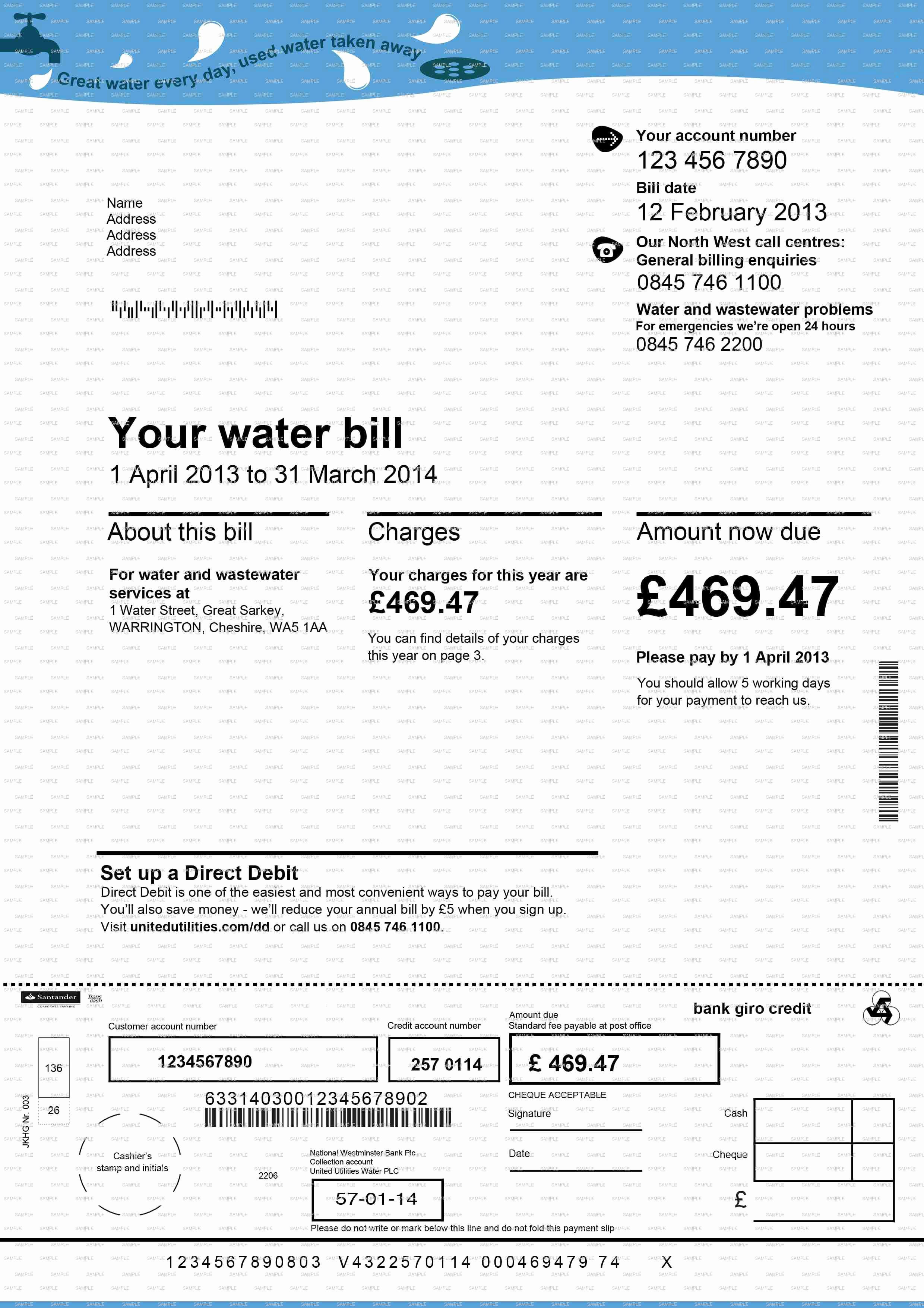 Water Bill Template New Fake Documents Fake Bank Statements Fake Utility Bills