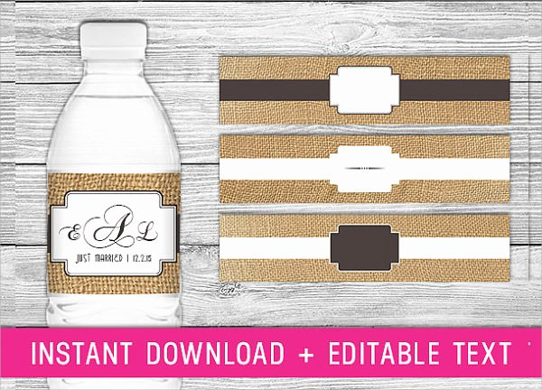 Water Bottle Templates Free Elegant 24 Sample Water Bottle Label Templates to Download
