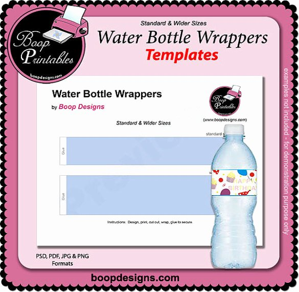 Water Bottle Templates Free Fresh 21 Water Bottle Template Psd format Download
