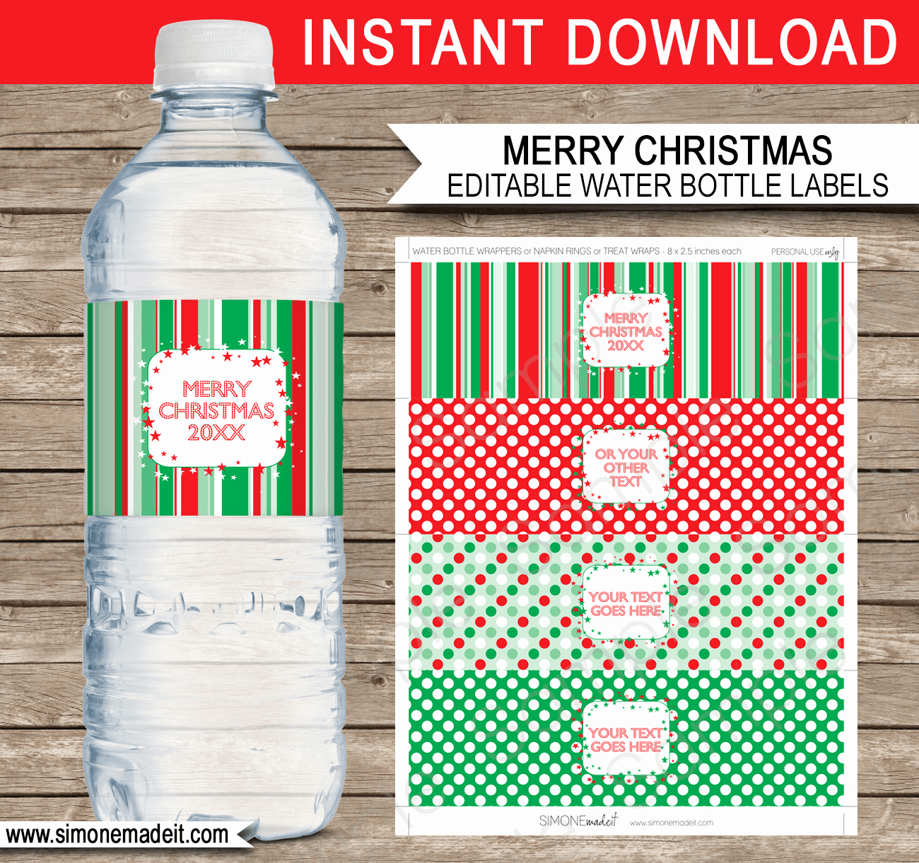 Water Bottle Templates Free Unique Printable Christmas Water Bottle Labels Template