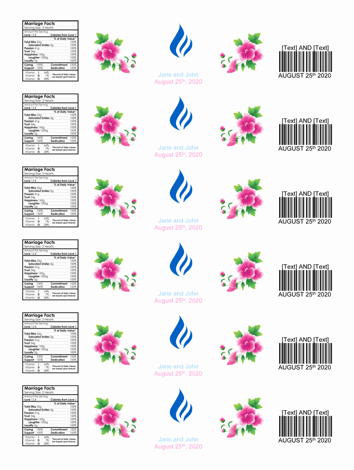 Water Bottle Templates Free Unique Water Bottle Label Template Make Personalized Bottle Labels