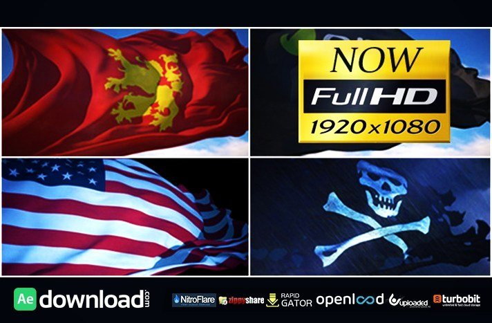 Waving Flag after Effects Awesome Flag Loop Maker Free Videohive Template Free after