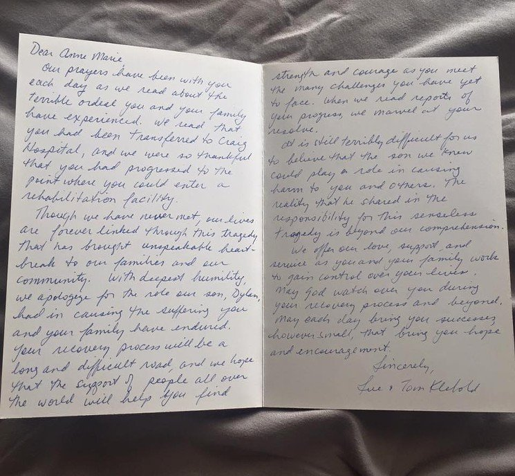 We are Moving Letter Luxury Anne Marie Hochhalter Moving Letter to Dylan Klebold S