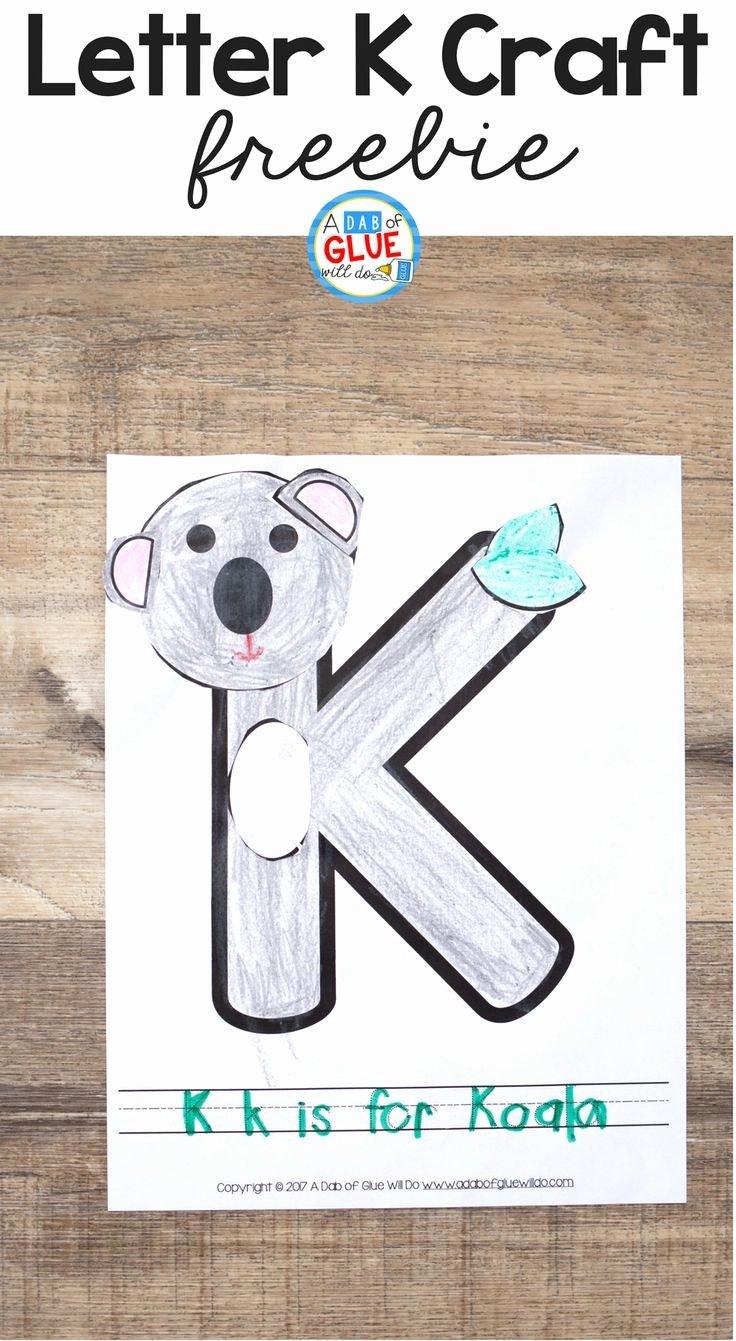 We are Moving Letter New Animal Alphabet K is for Koala Craft
