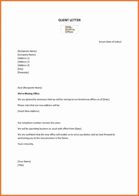 We are Moving Letter New We are Moving Fice Letter Template