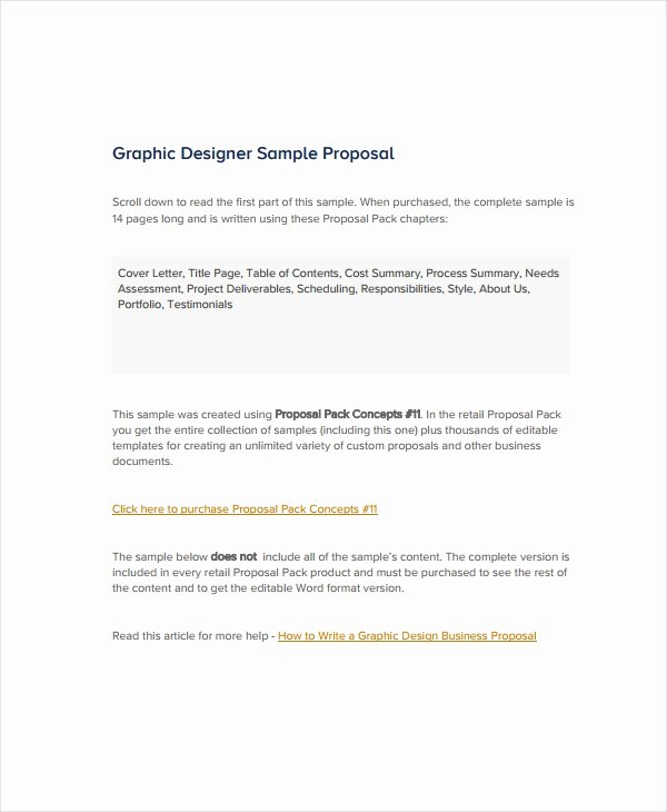 Web Design Proposal Sample Doc Awesome 10 Graphic Design Proposal Examples Pdf Doc Pages