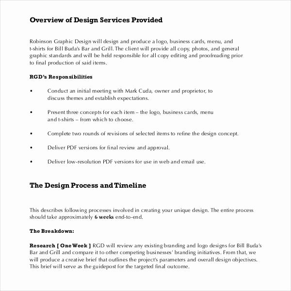Web Design Proposal Sample Doc Elegant Sample Graphic Design Proposal Template 10 Free